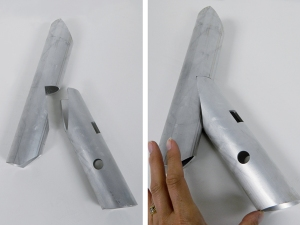 Coped nested railing aluminum pieces from tube laser